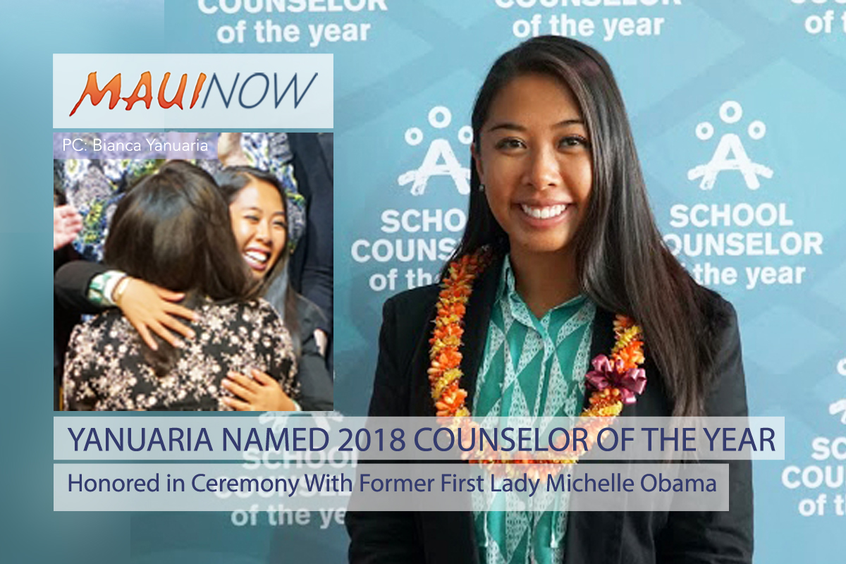 School Counselor Honored in Ceremony with Former First Lady Michelle Obama