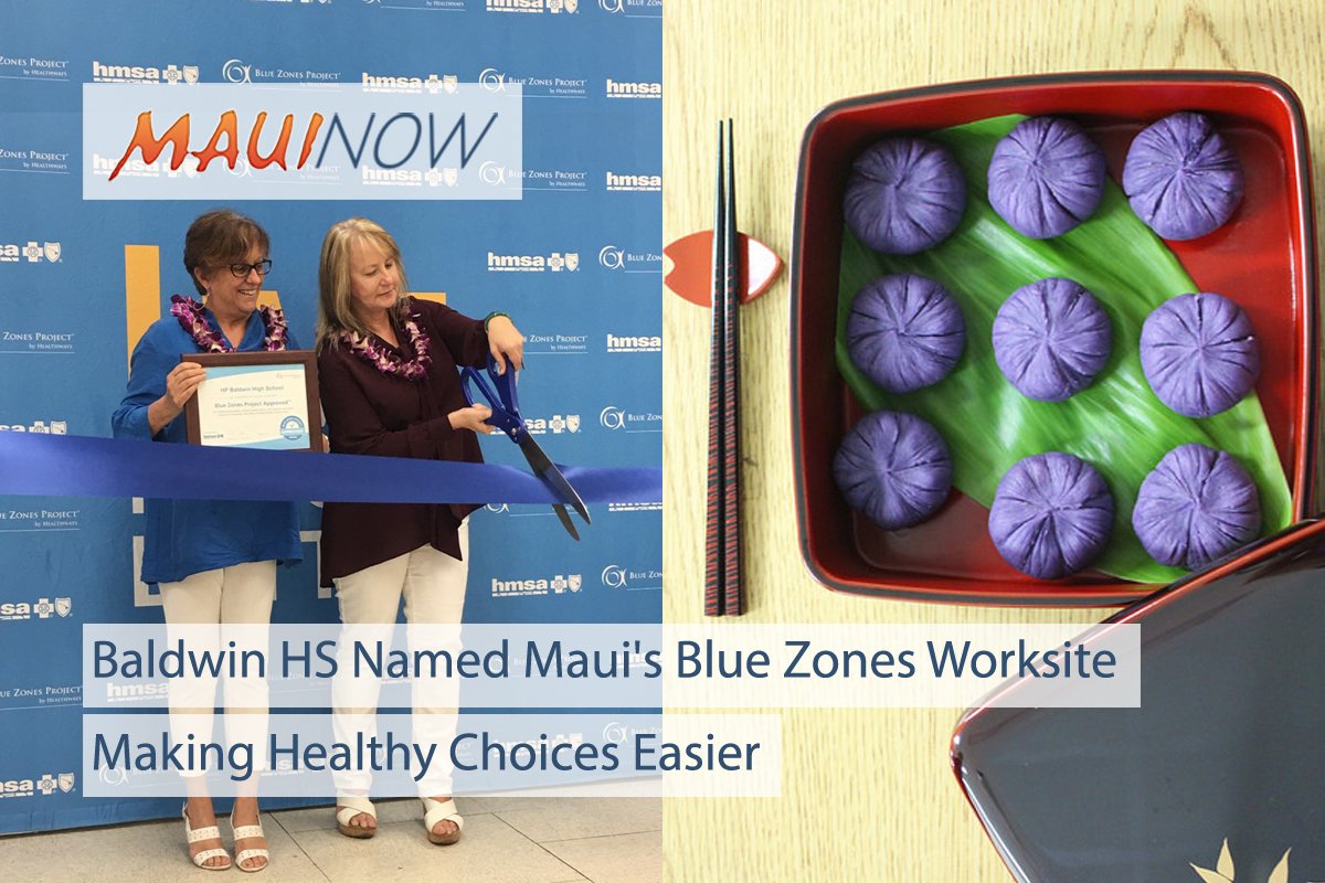 Baldwin HS Named Maui's First Blue Zones Approved Worksite
