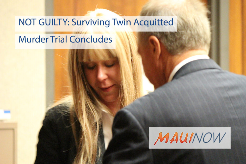 Woman acquitted of murdering twin sister in vehicle plunge off Hawaii cliff