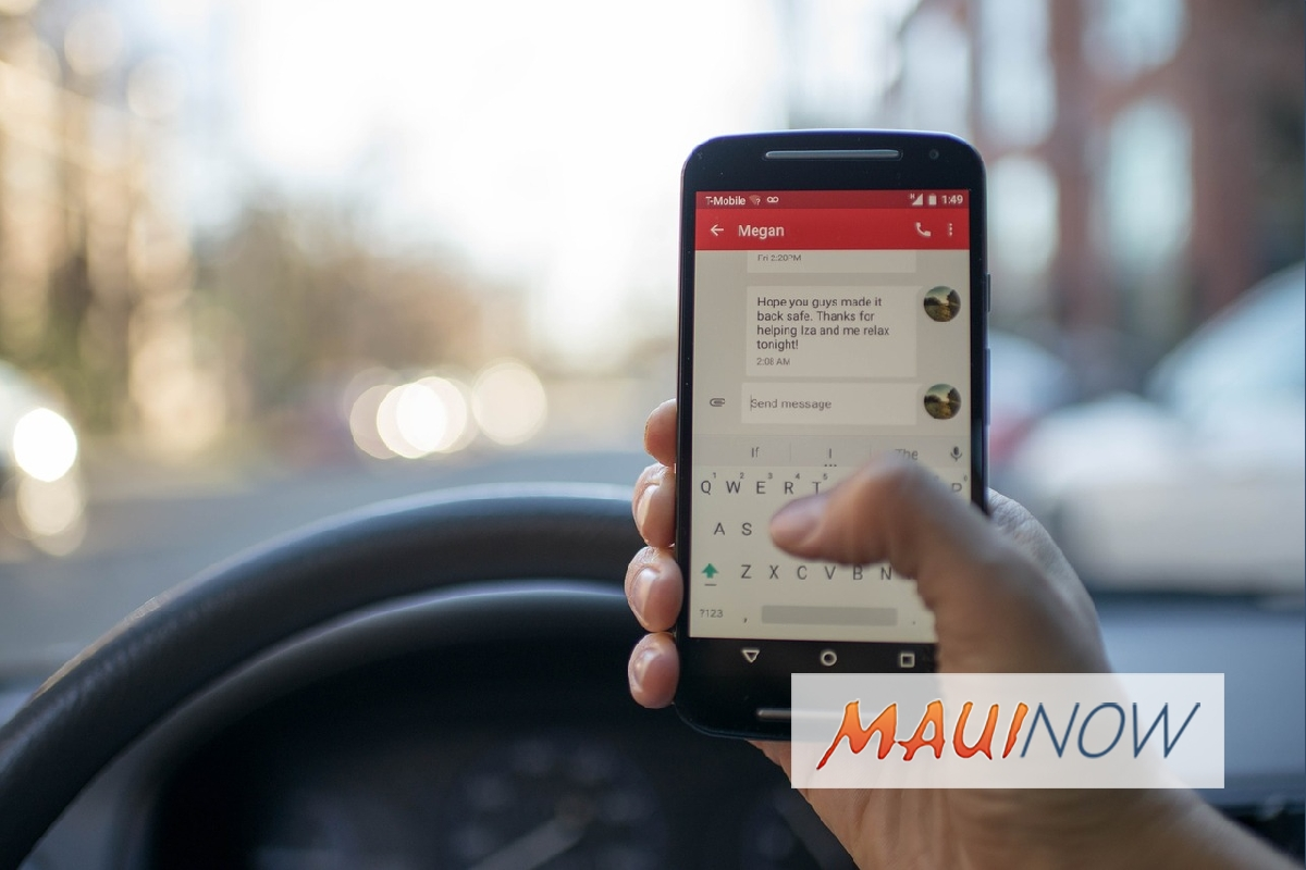 Maui Police Launch Distracted Driver Campaign April 1