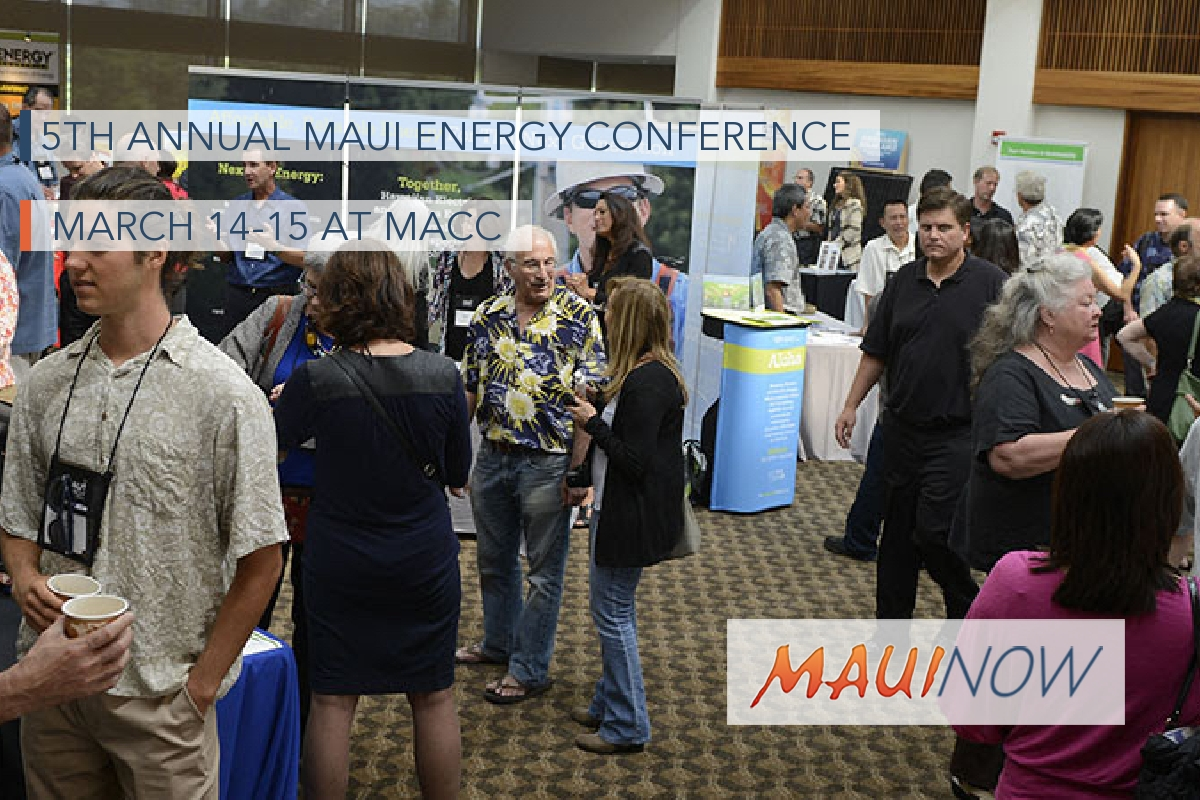 5th Annual Maui Energy Conference, March 14-15