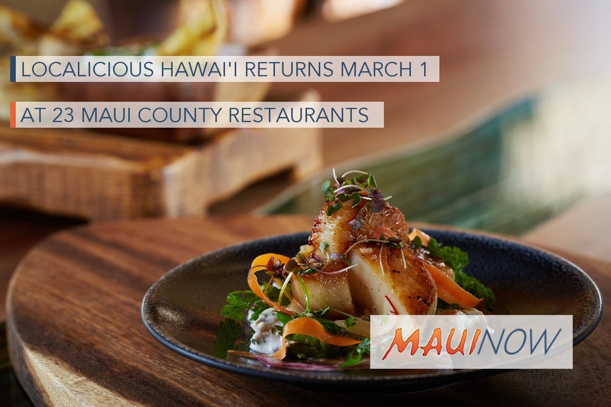 Localicious Hawai'i Returns at 23 Maui County Restaurants
