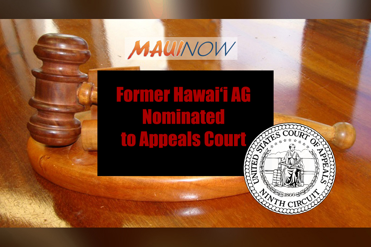 Former Hawai'i AG Nominated to Appeals Court