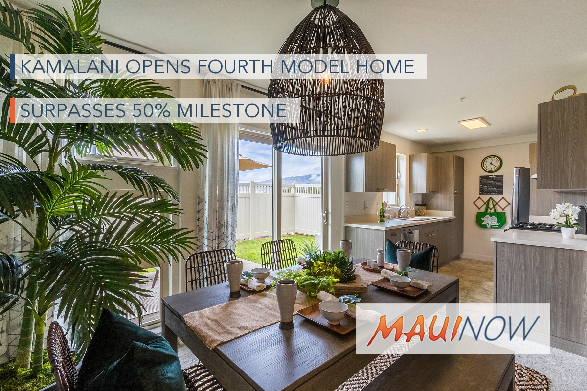 Kamalani Opens Fourth Model Home, Surpasses 50% Milestone