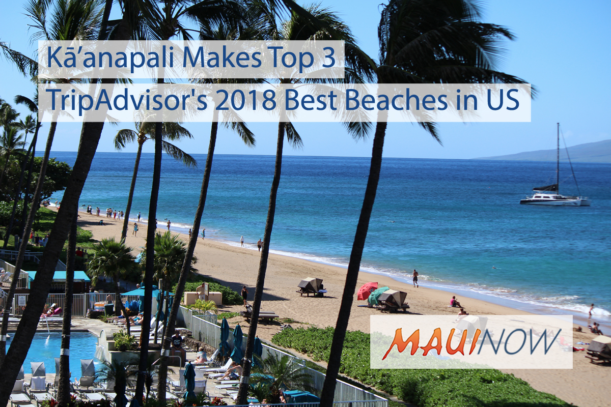 3 Maui Beaches Named to TripAdvisor's 2018 Best in US Awards