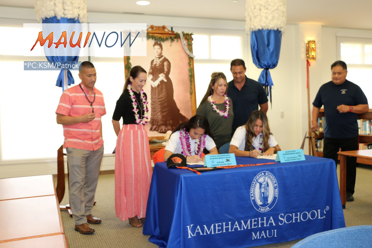 Kamehameha Maui Students Sign National Letters of Intent