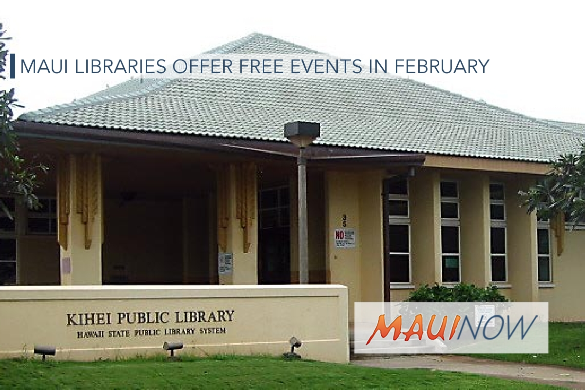 Maui Libraries Offer Free Events in February