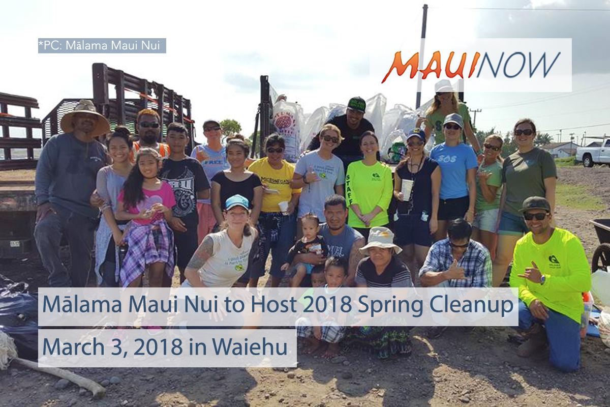 Mālama Maui Nui to Host 2018 Spring Cleanup