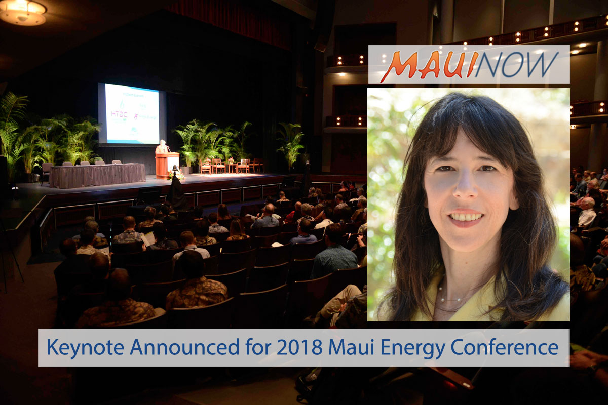 Keynote Announced for 2018 Maui Energy Conference