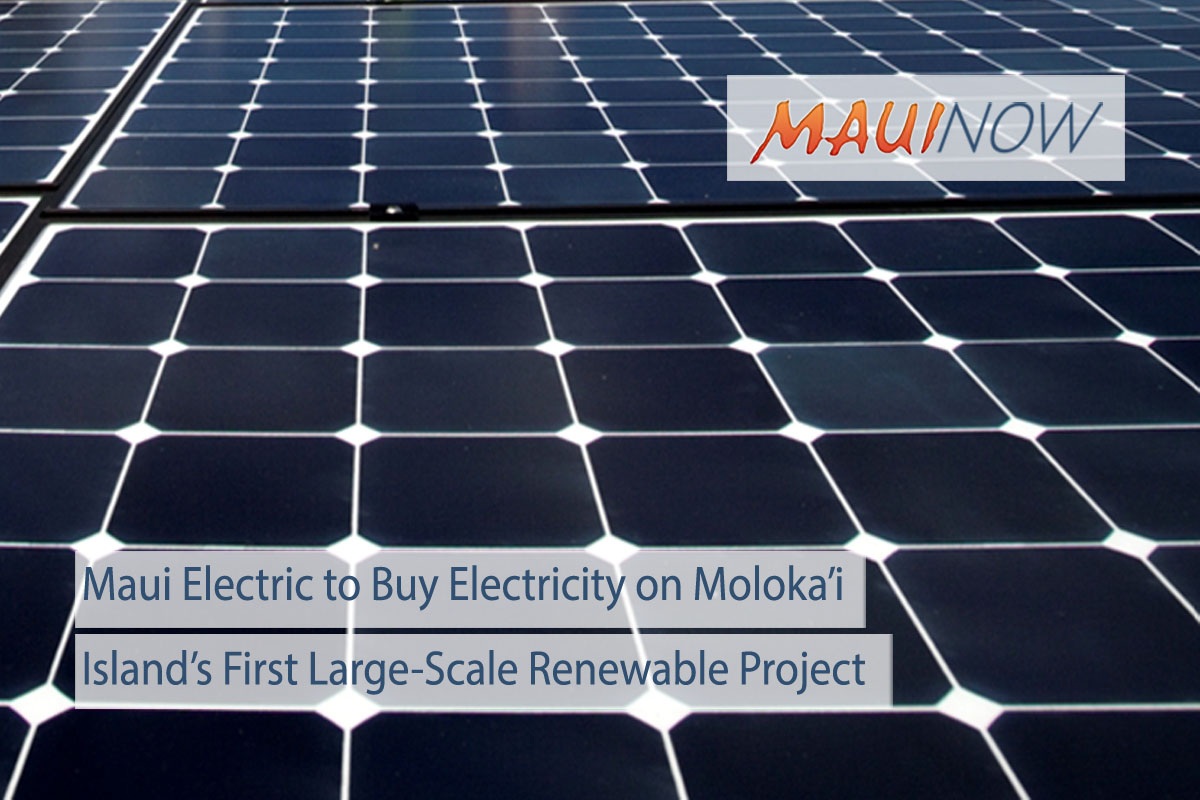 Moloka'i's First Large-Scale Renewable Project