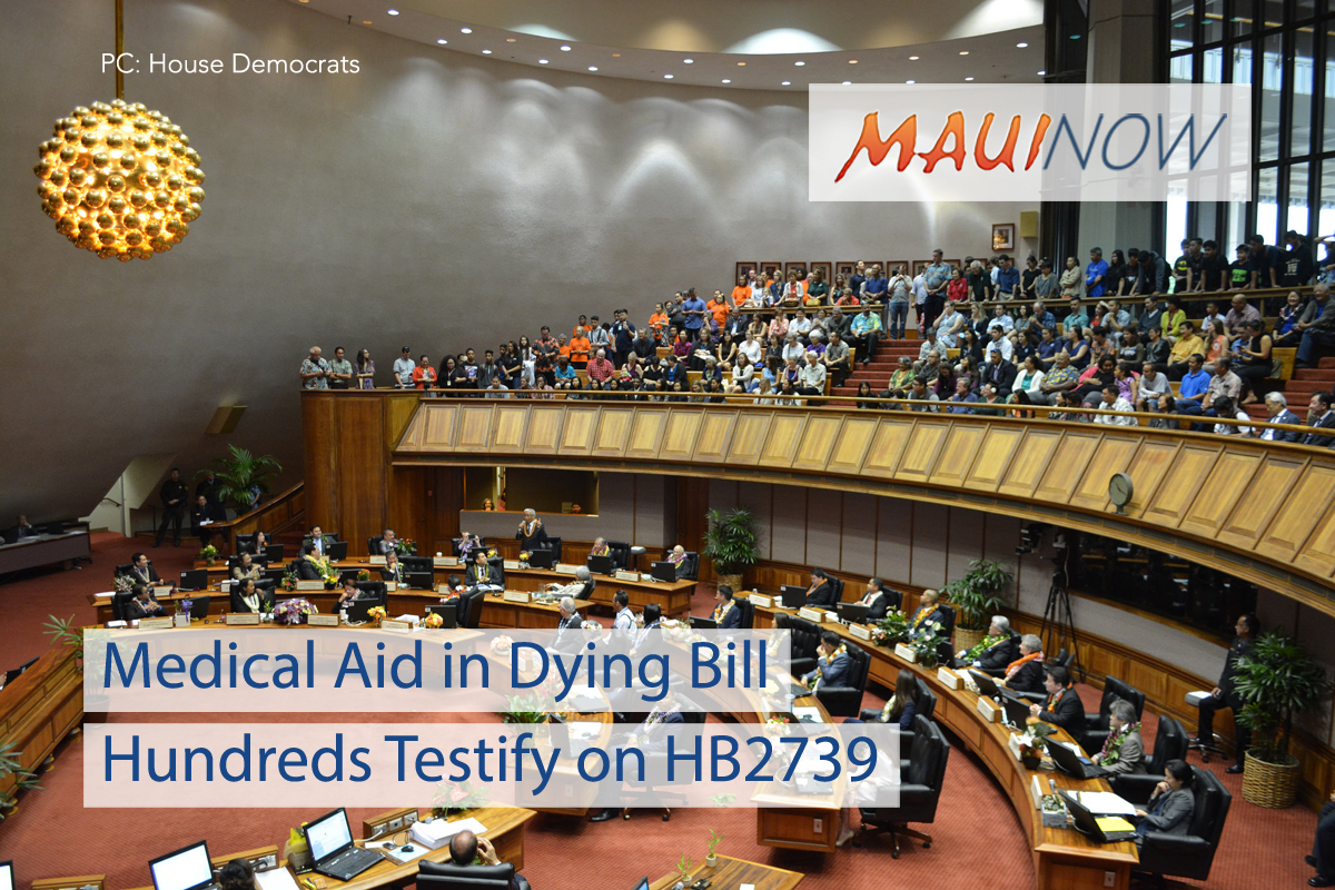 Hundreds Testify on Medical Aid in Dying Bill