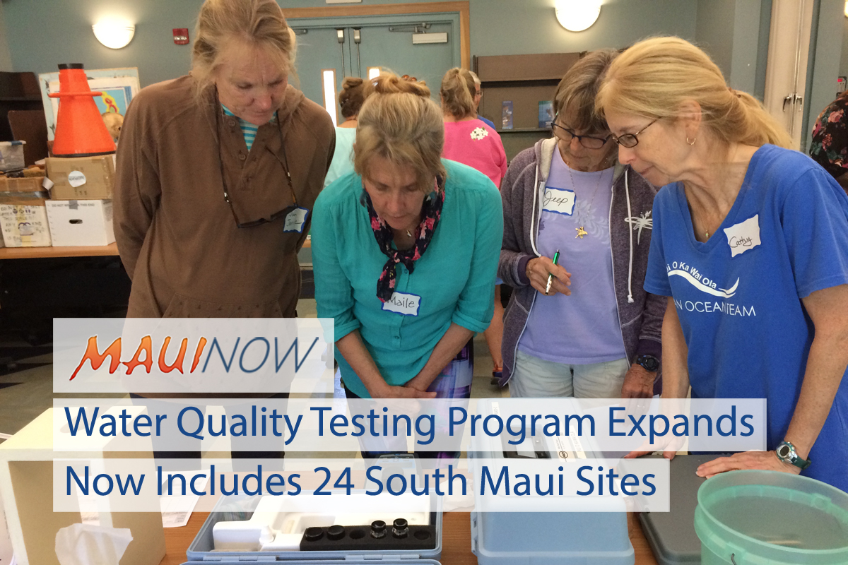 Maui Water Quality Program Expands to Include 48 Test Sites