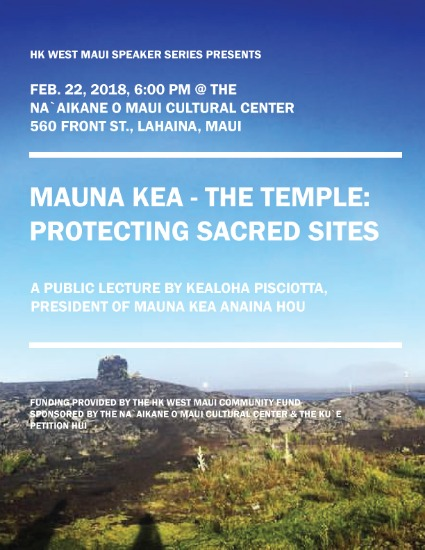 West Maui Speaker Series Features Native Hawaiian Scholars