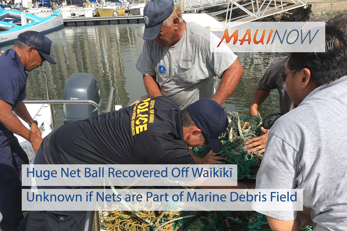 Huge Net Ball Recovered Off Waikīkī