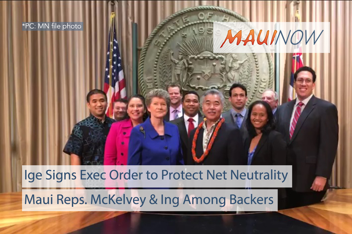 Ige Signs Executive Order to Protect Net Neutrality in Hawai'i