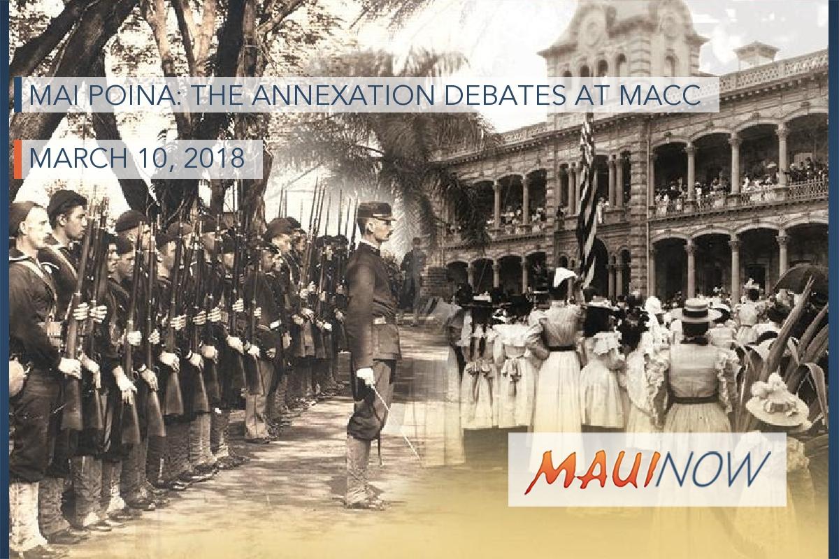 Mai Poina: The Annexation Debates at MACC