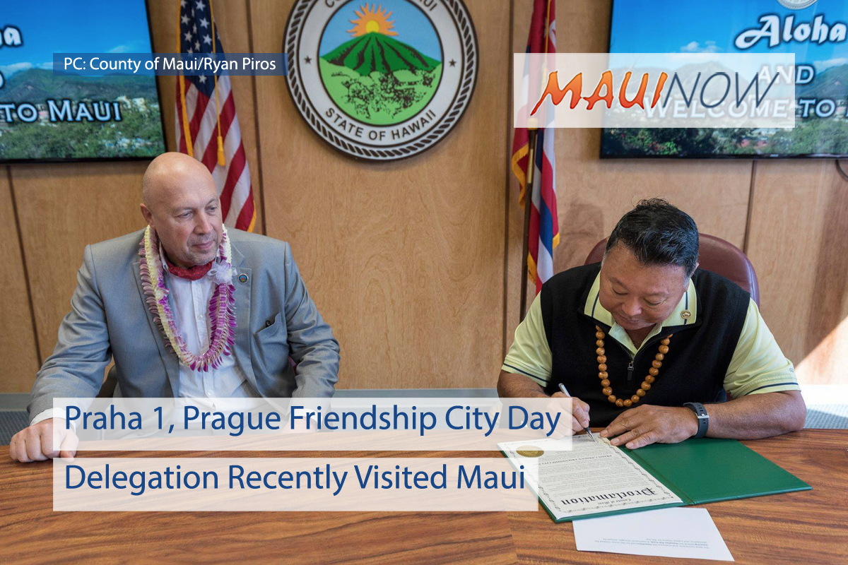 Maui Mayor Proclaims Prague Friendship City Day