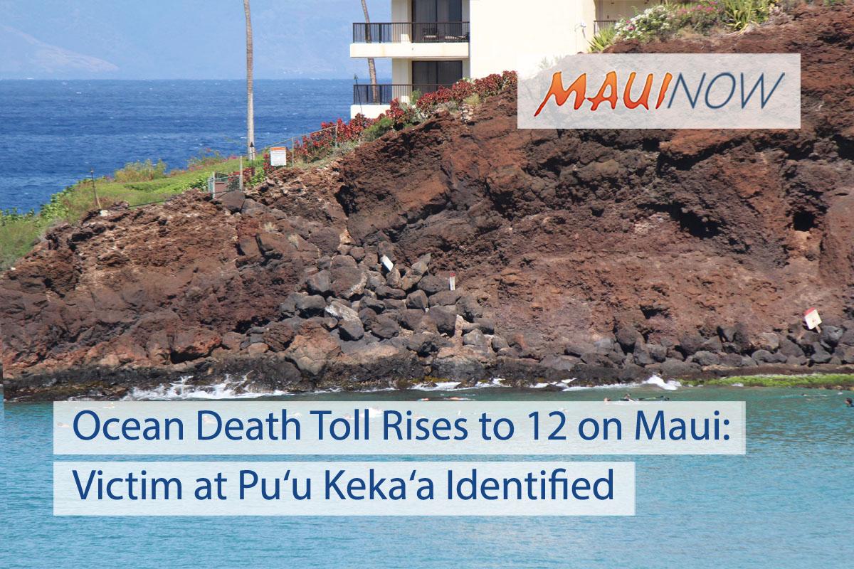 Ocean Death Toll Rises to 12 on Maui: Victim at Pu'u Keka'a ID'd