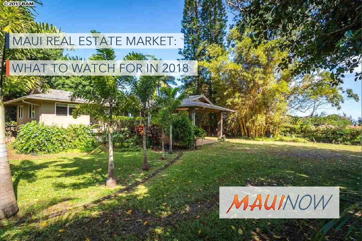Maui Real Estate Market: What to Watch for in 2018
