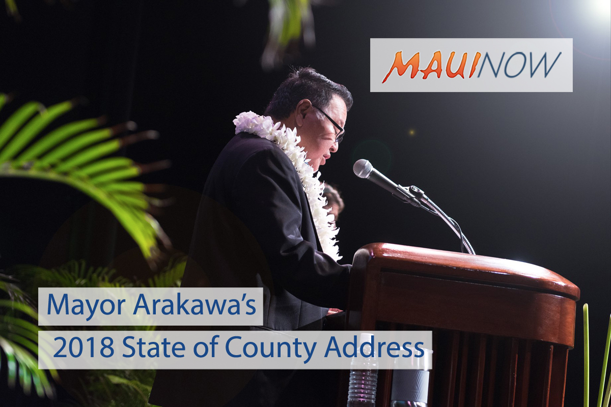 Mayor Arakawa Delivers 2018 State of County Address