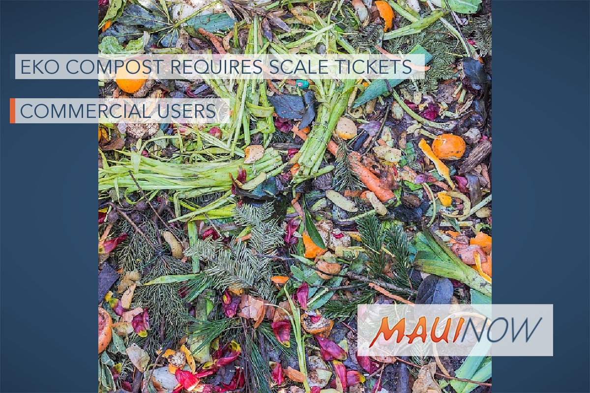 EKO Compost Requires Scale Tickets for Commercial Users