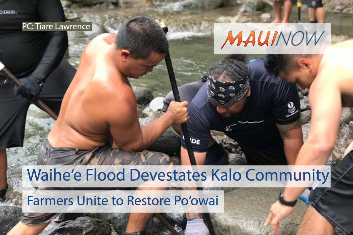 """Waihe'e Flood """"Obliterates"""" Structure That Feeds Water to Kalo Farms"""