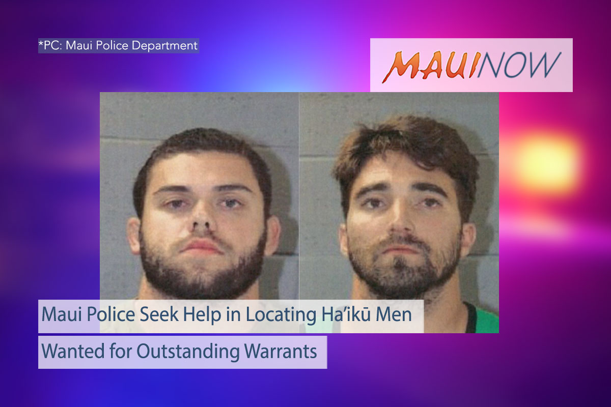 Maui Men Wanted for Outstanding Warrants