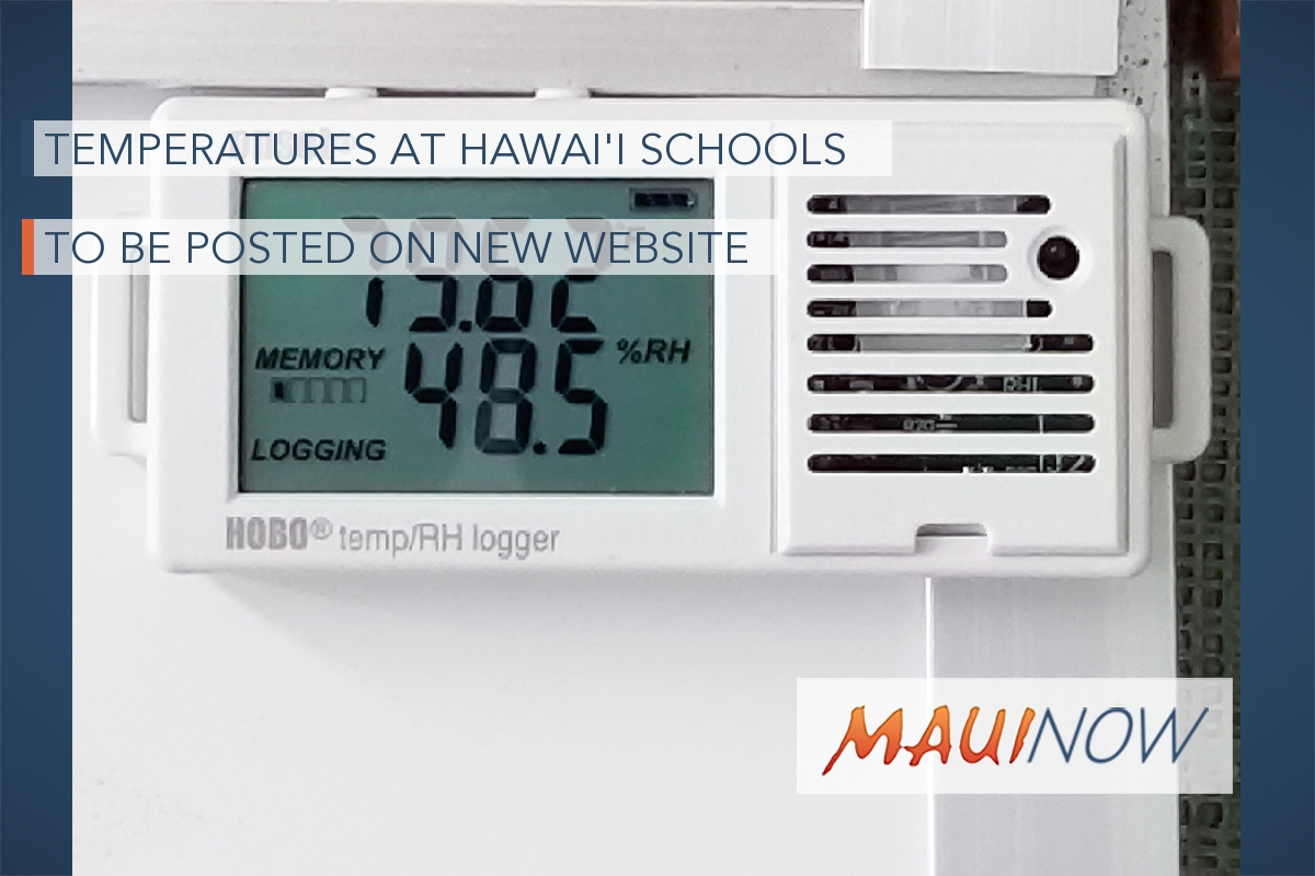 Temperatures at Hawaiʻi Schools to be Posted on New Website