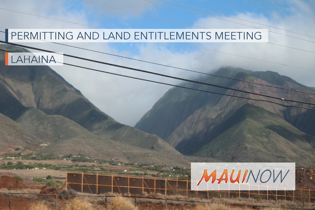 Permitting and Land Entitlements Meeting in Lahaina