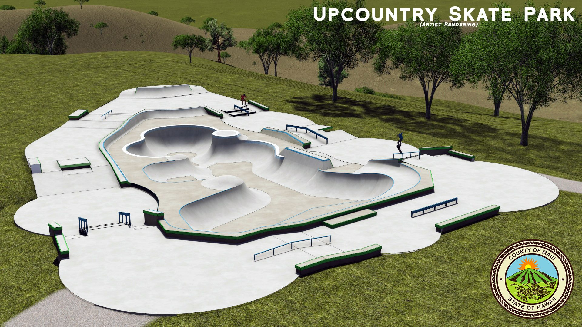 maui now 1 4m upcountry skate park construction to begin