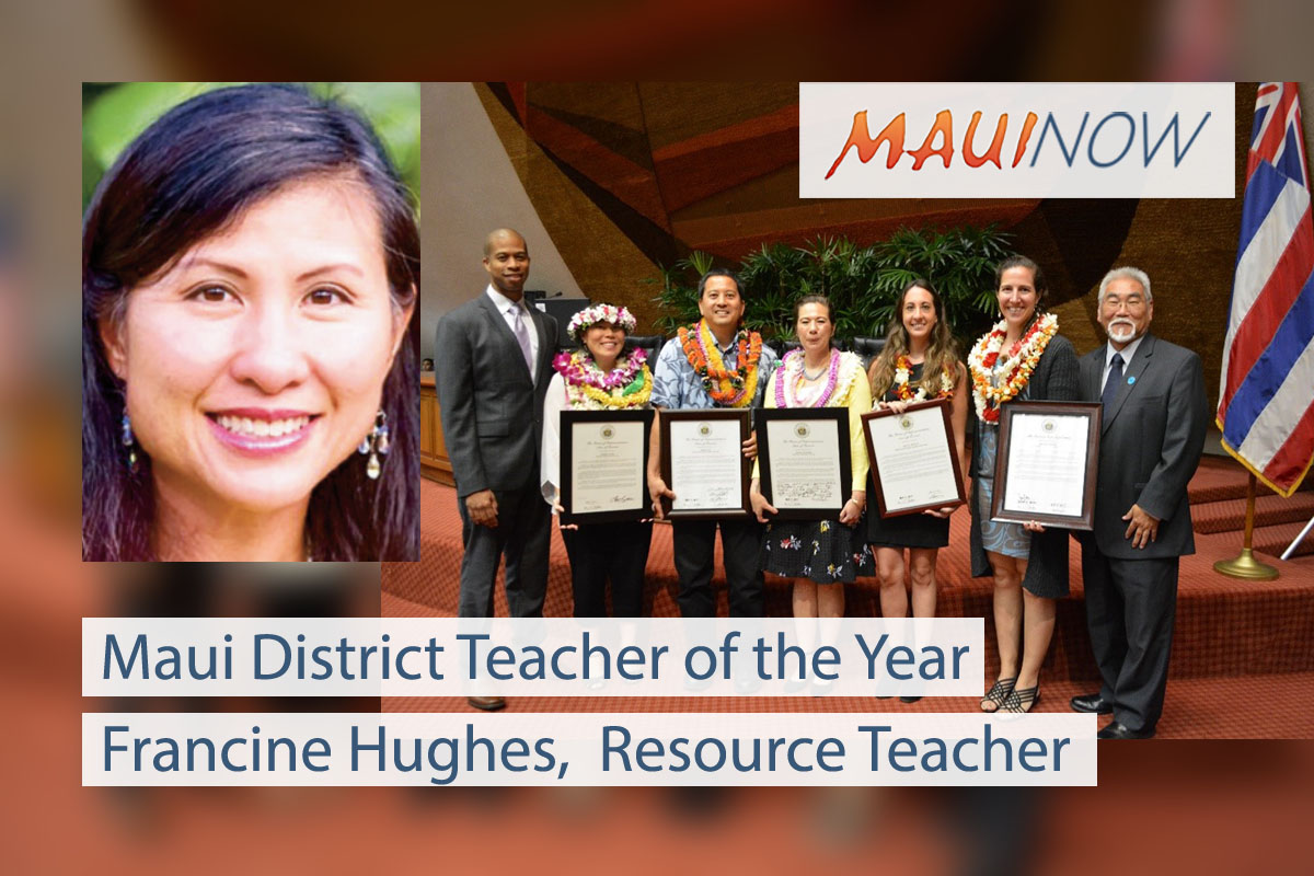 Hughes Named Maui District Teacher of the Year