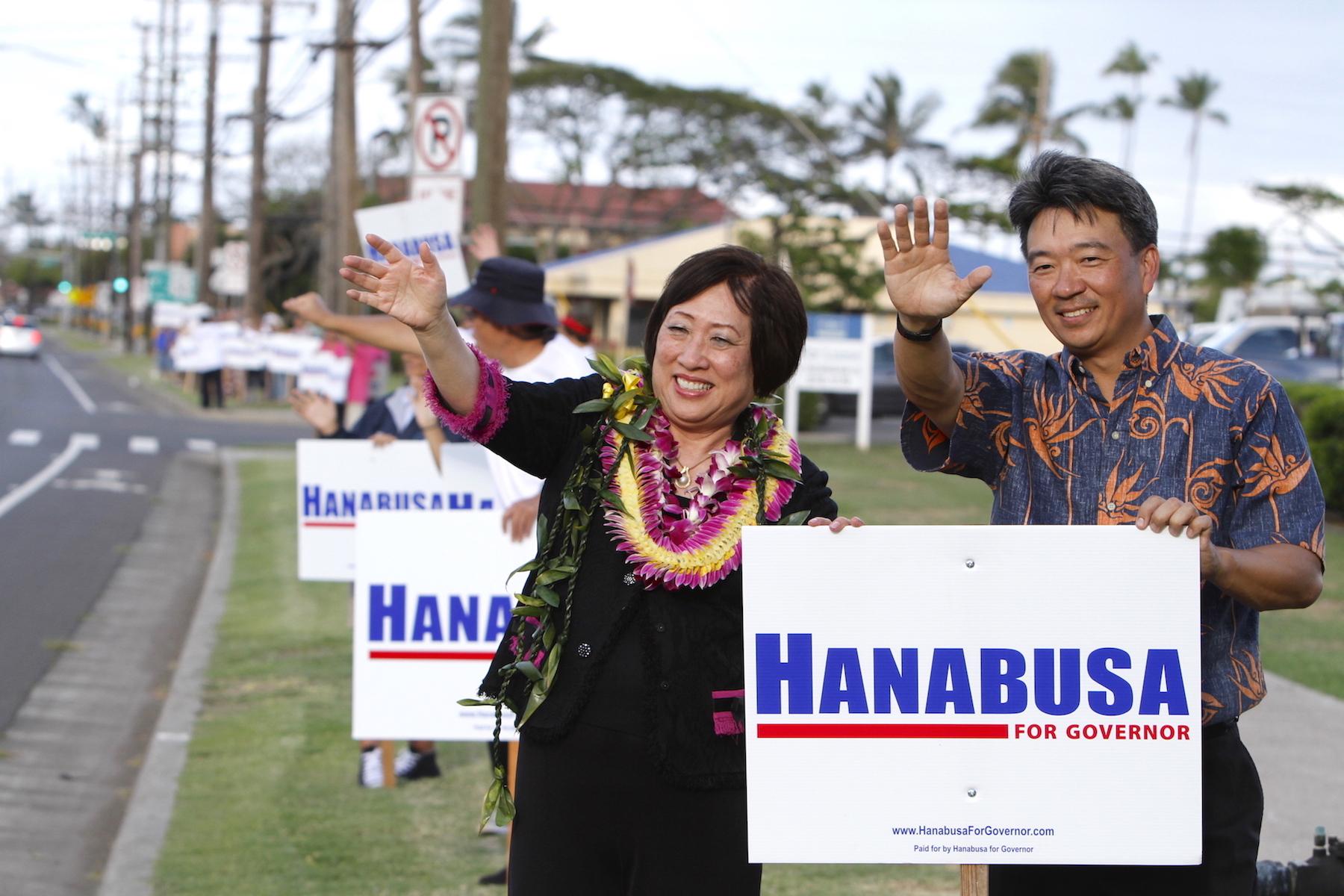 Tsutsui Endorses Hanabusa for Governor, Maui Headquarters Open
