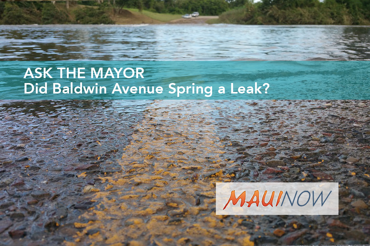 Ask the Mayor: Did Baldwin Avenue Spring a Leak?
