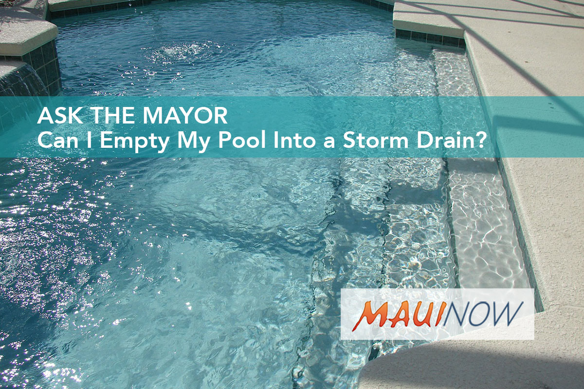 Ask the Mayor: Can I Empty My Pool Into a Storm Drain?