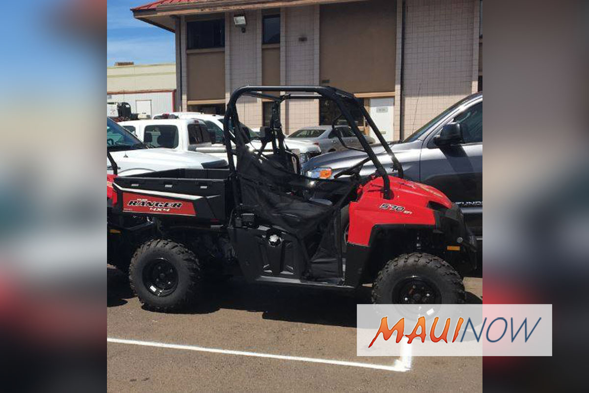 Maui Lifeguard ATV Stolen From DT Fleming Beach