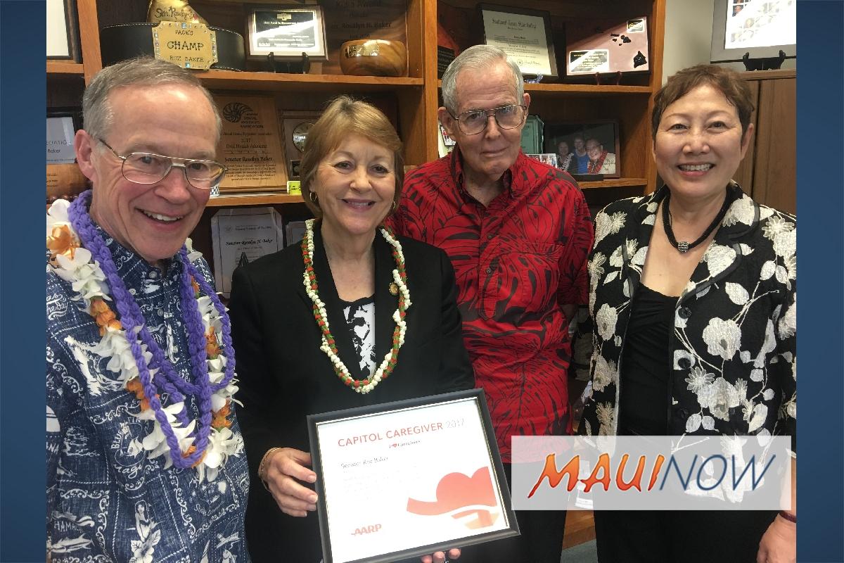 Maui Sen. Roz Baker Named Capitol Caregiver
