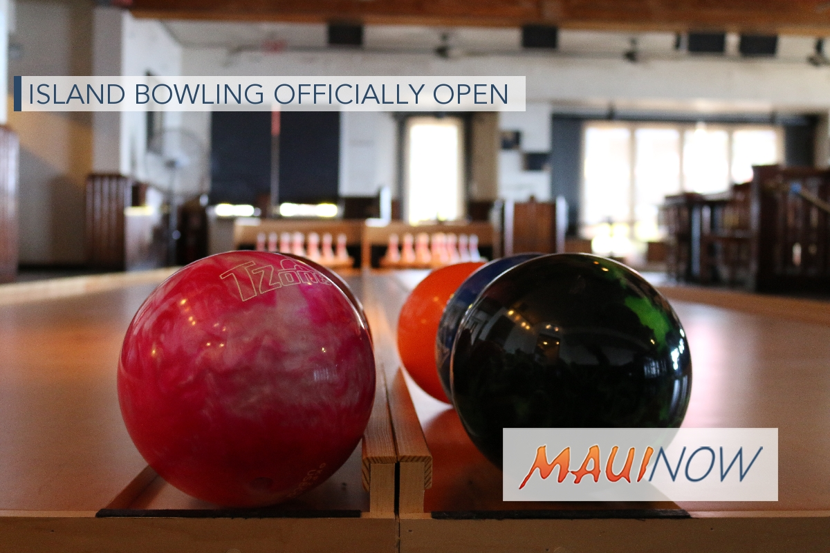 Island Bowling Officially Open in Lahaina