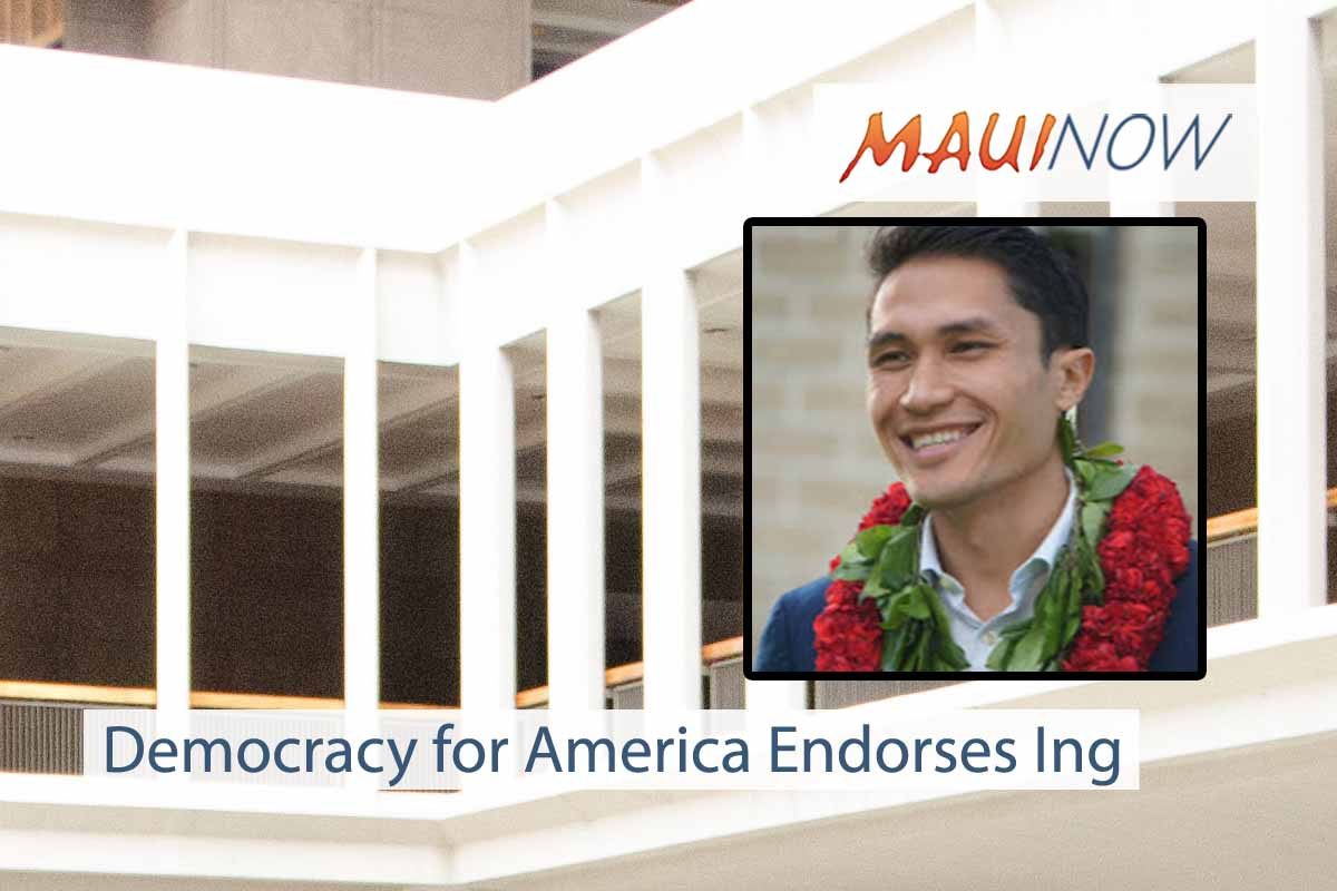 Democracy for America Endorses Ing for Congress