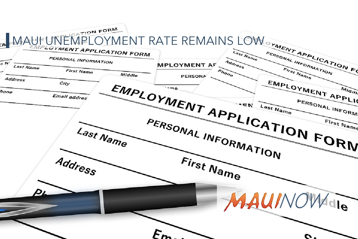 Maui Unemployment Rate Remains Low in January