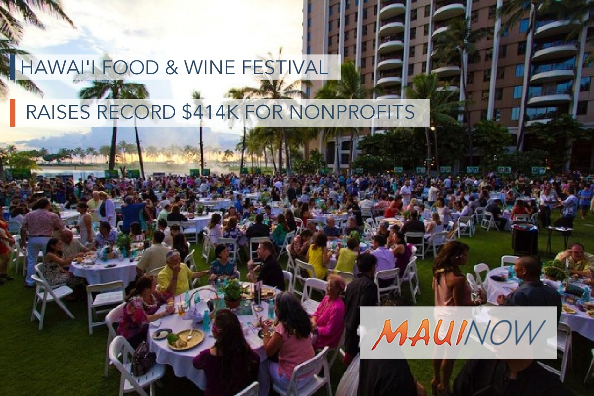 Hawai'i Food & Wine Festival Raises Record $414K for Nonprofits