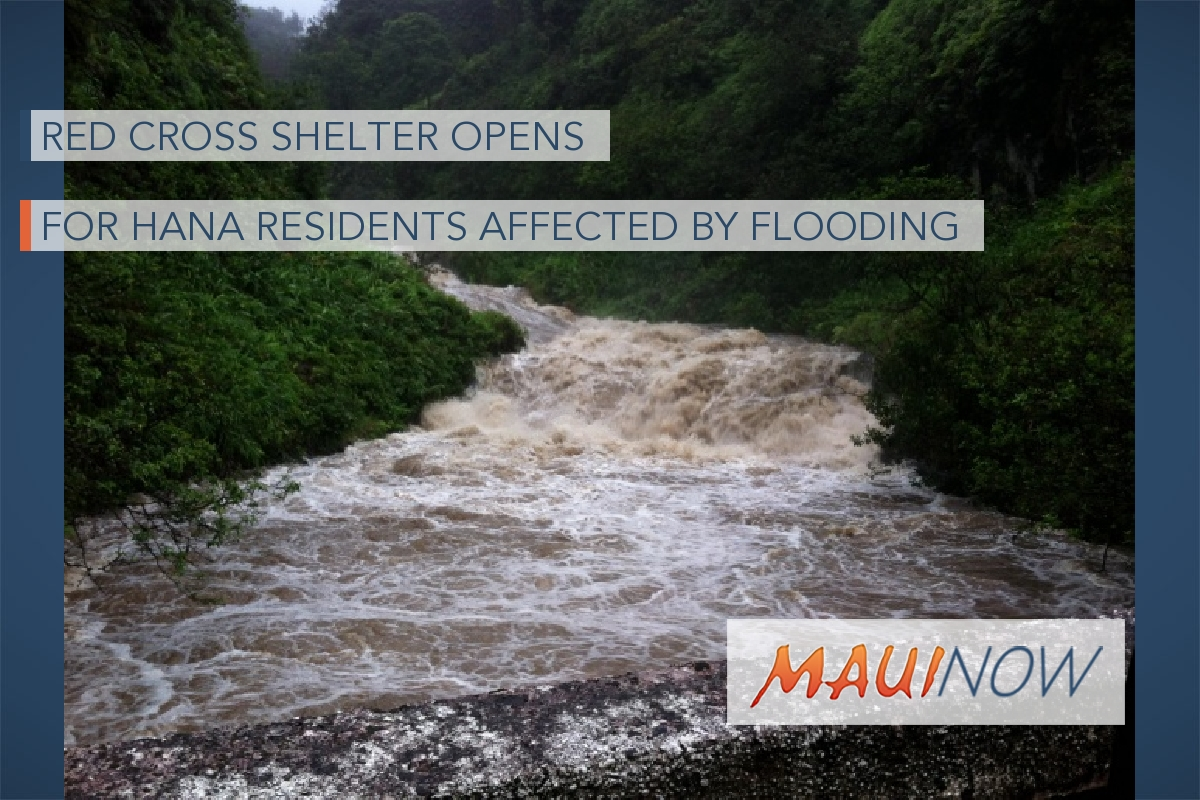 Red Cross Shelter Opens for Hāna Residents Affected by Flooding
