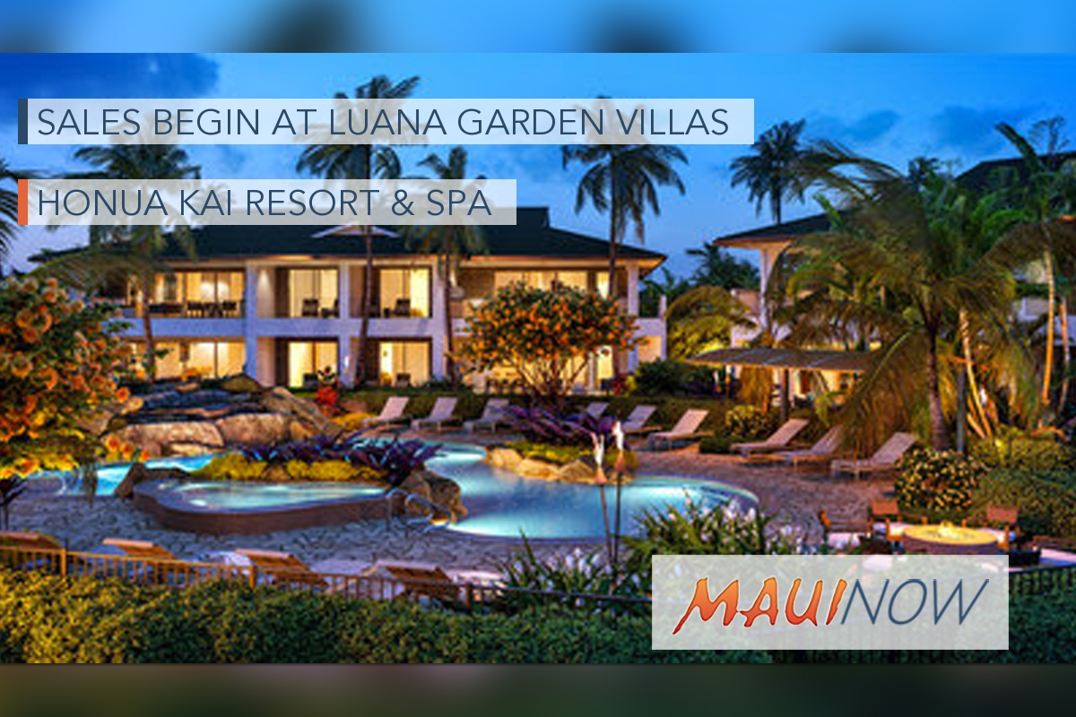 Sales Begin at Luana Garden Villas in Kāʻanapali