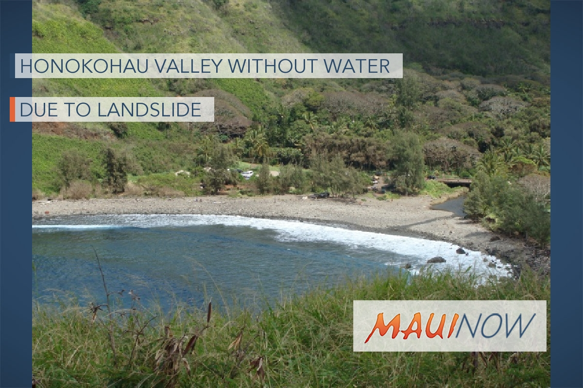 Pipeline Damaged in Landslide, Honokōhau Without Water