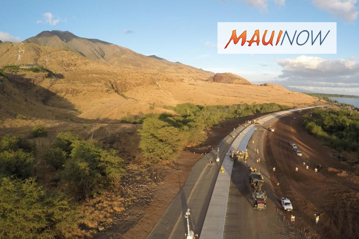 Southern Connector Road Between Honoapi'ilani and Lahaina Bypass Opens Today
