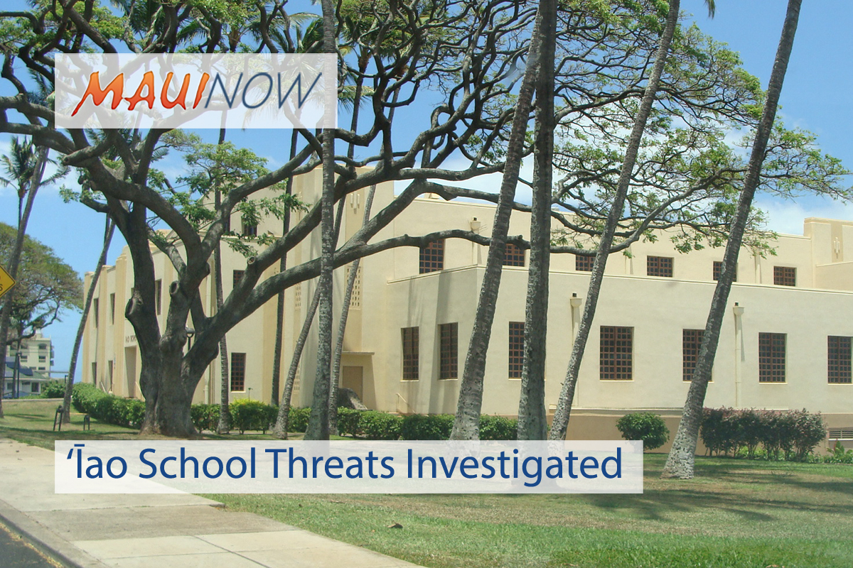 'Īao School Vandalism, Threats Investigated