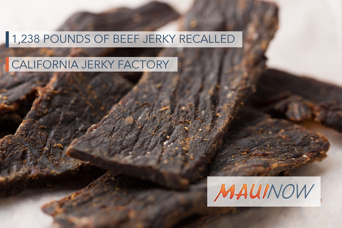 California Jerky Factory Recalls 1,238 Pounds of Beef Jerky