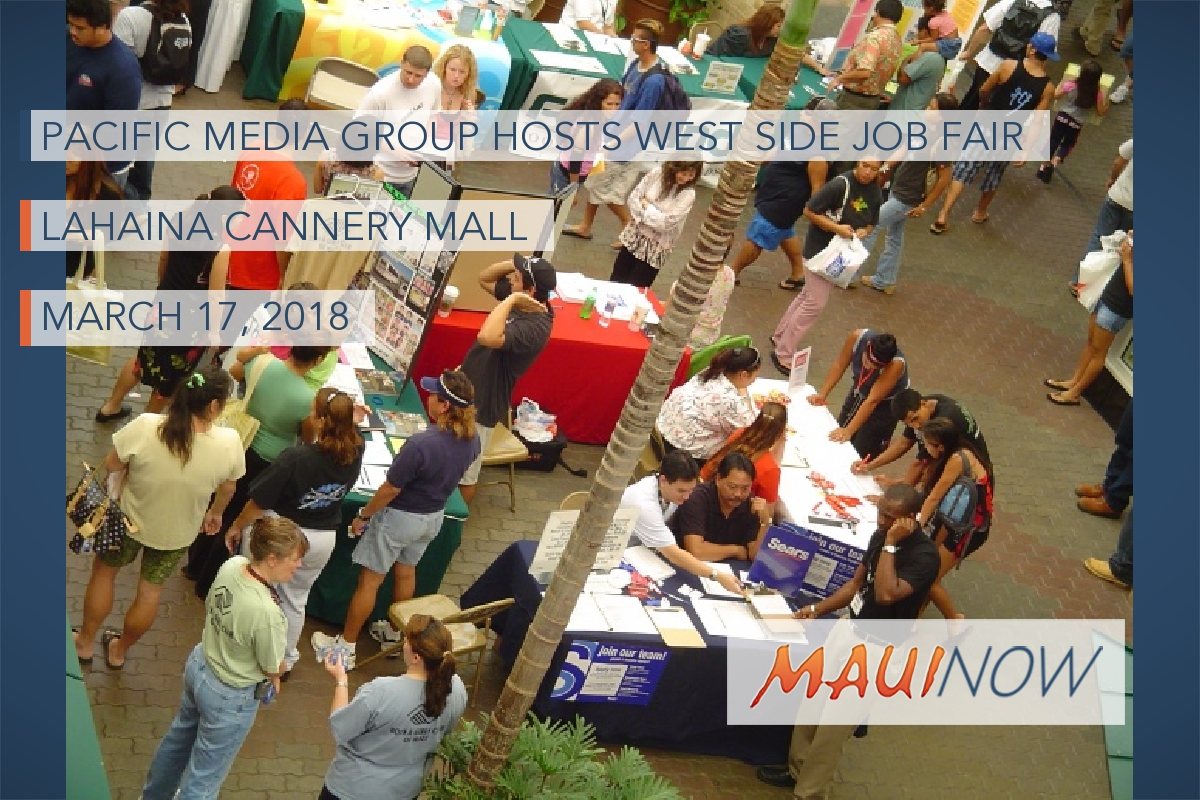 Pacific Media Group Hosts West Side Job Fair, March 17
