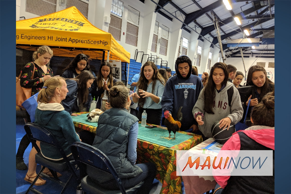 Business Comes to Campus at Kamehameha Schools Maui Career Day