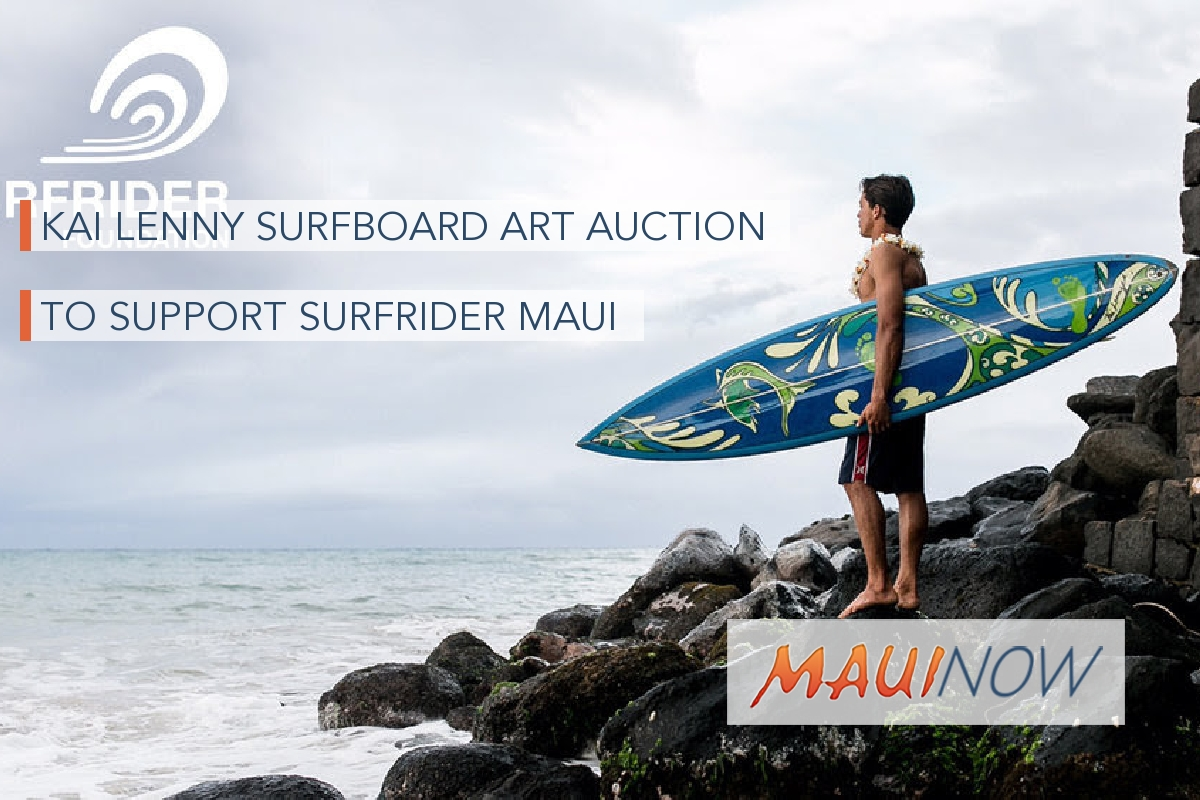 Kai Lenny Surfboard Art Auction to Support Surfrider Maui
