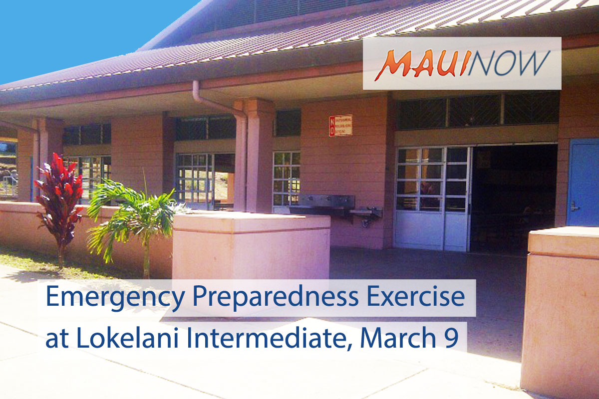 Emergency Preparedness Exercise at Lokelani Intermediate, March 9